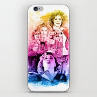 river song iPhone & iPod Skins featuring River Song Watercolor Mixed Media Digital Painting by Purshue