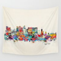 south africa Wall Tapestries featuring Cape Town South Africa by bri.buckley