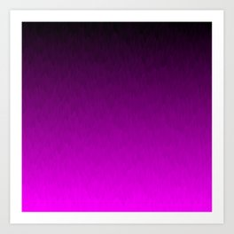 Black Purple Ombre Flames Art Print