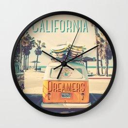 California dreamers Wall Clock