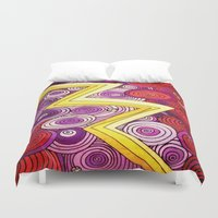 lightning Duvet Covers featuring Lightning by DuckyB