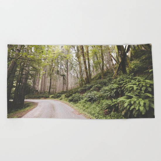 The Road to Olympia Beach Towel