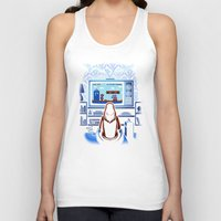8bit Tank Tops featuring 8bit Who by Bamboota
