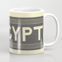 egypt Mugs featuring Egypt  by redone