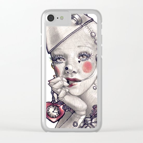 Made of Tin Clear iPhone Case