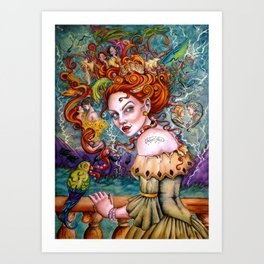 A Pirate Queen's Memory Art Print