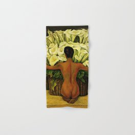 """""""Nude With Lilies"""" by Diego Rivera Hand & Bath Towel"""