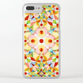 Pastel Carousel II Clear iPhone Case