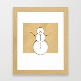 Vintage Snowman Framed Art Print