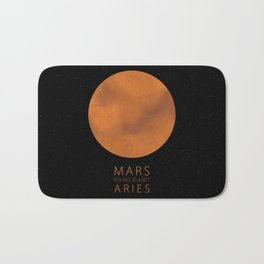 Aries - Ruling Planet Mars Bath Mat