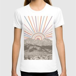 Summerlin Mountain // Abstract Vintage Mountains Summer Sun Vibe Drawing Happy Wall Hanging T-shirt