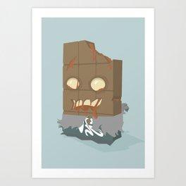 Zombie Crunch Bar Art Print