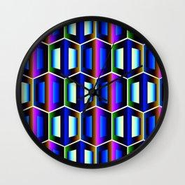 3D Cubes Wall Clock