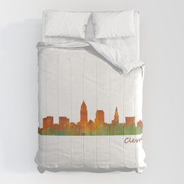 Cleveland City Skyline Hq V1 Comforters