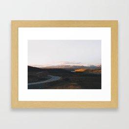 Tekapo Sunset Framed Art Print