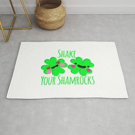 Shake Your Shamrocks Funny St. Patrick's Day Rug