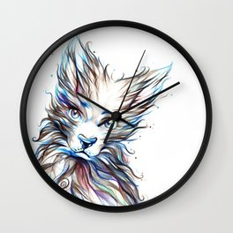 Colourfull Wolf Wall Clock
