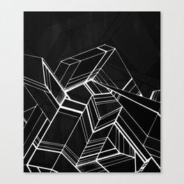 Geo Tactic 2, B/W Canvas Print
