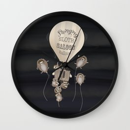 Swinging sloth Wall Clock