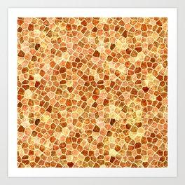 Faux Giraffe Skin Abstract Pattern Art Print
