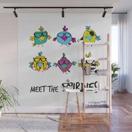 Meet The BIRDIES Wall Mural