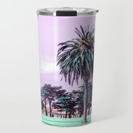 Three palm trees. Travel Mug