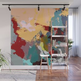 Hisasu - Abstract Colorful Retro Tie Dye Style Pattern Wall Mural