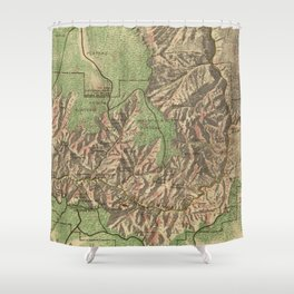 Vintage Map of The Grand Canyon (1926) Shower Curtain