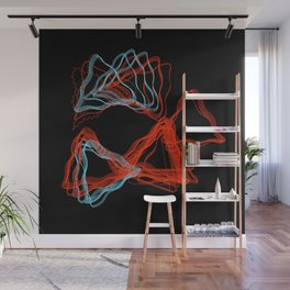 Abstract Contours Wall Mural