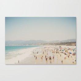 summer time in Santa Monica ... Canvas Print