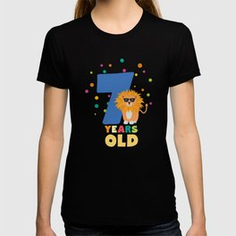Seven Years seventh Birthday Party Lion Drc31 T-shirt