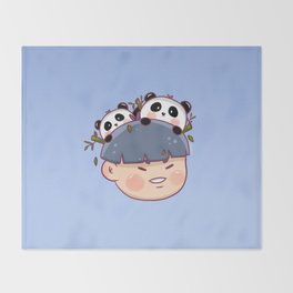 Panda Boy Throw Blanket