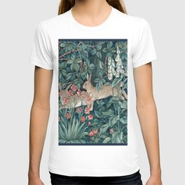 William Morris Forest Rabbits and Foxglove T-shirt