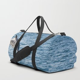 Leaping Wild Dolphin - Retro style illustration Duffle Bag