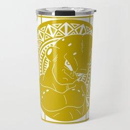 Stained Glass - Dragonball - Majin Buu Travel Mug