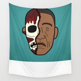 Faces of Breaking Bad: Gustavo Fring (Face-Off) Wall Tapestry