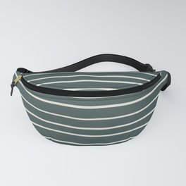 Horseradish Off White PPG1086-1 Hand Drawn Horizontal Stripes on Night Watch PPG1145-7 Fanny Pack