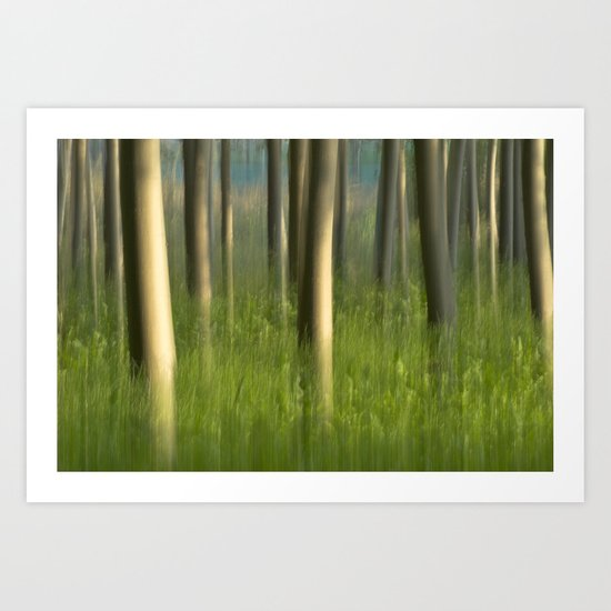 Alamedas en verde. Green forest Art Print
