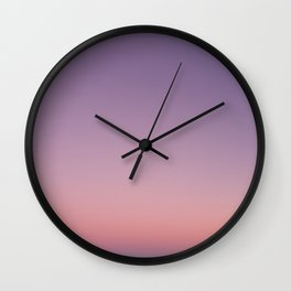 LA sunset sky gradient 243 Wall Clock