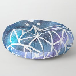 Watercolor galaxy Night Court - ACOTAR inspired Floor Pillow