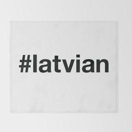 LATVIA Throw Blanket
