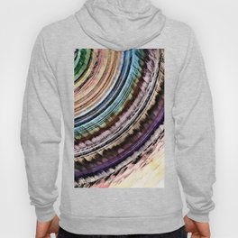 Abstract Textural Rings Hoody