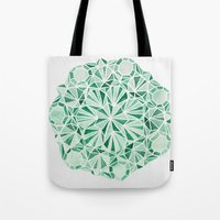 malachite Tote Bags featuring Malachite by Strange Charm