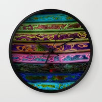 coachella Wall Clocks featuring Coachella by RingWaveArt