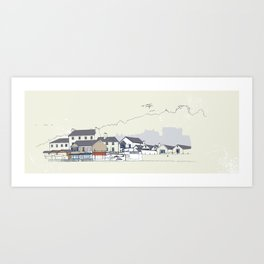 Locals only - Lyme Regis , Dorset, UK Art Print
