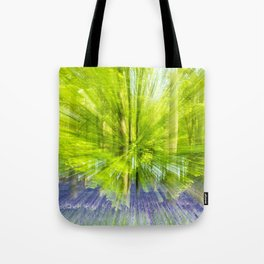 Rushing through thebluebells Tote Bag
