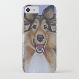 "Rough Collie ""Lassie"" Portrait iPhone Case"