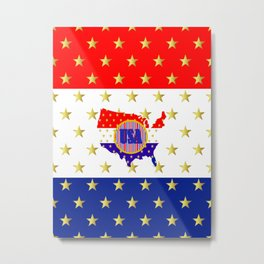 American Stars And Stripes Metal Print