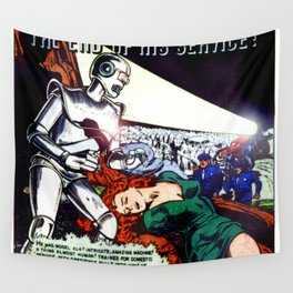 THE END OF HIS SERVICE (1940) Wall Tapestry