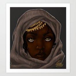 Girl in the Scarf Art Print